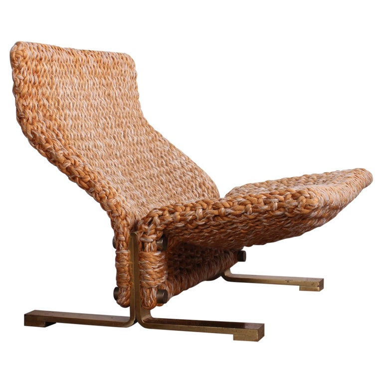 Marzio Cecchi Rope Lounge Chair, 1970s, offered by Sputnik Modern