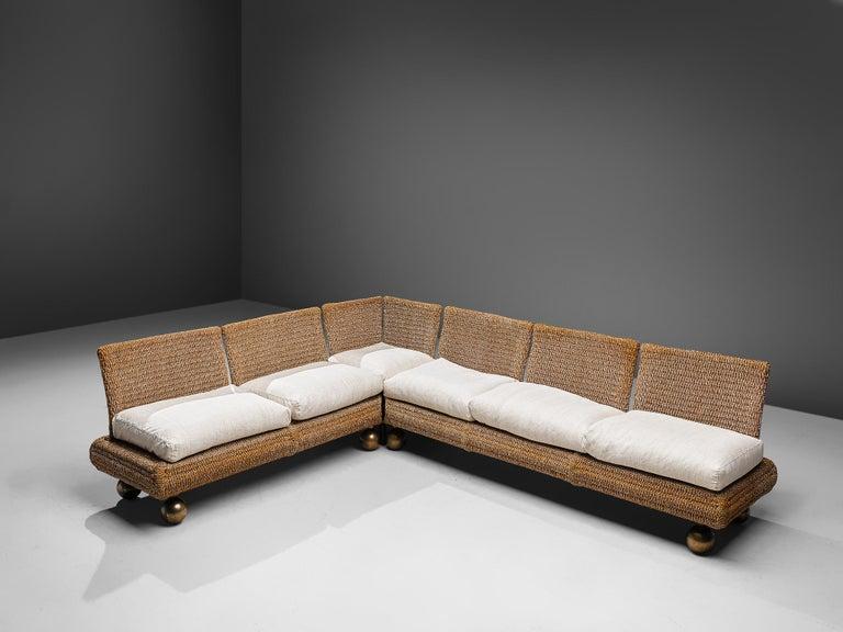 Mid-Century Modern Marzio Cecchi Sectional Sofa For Sale