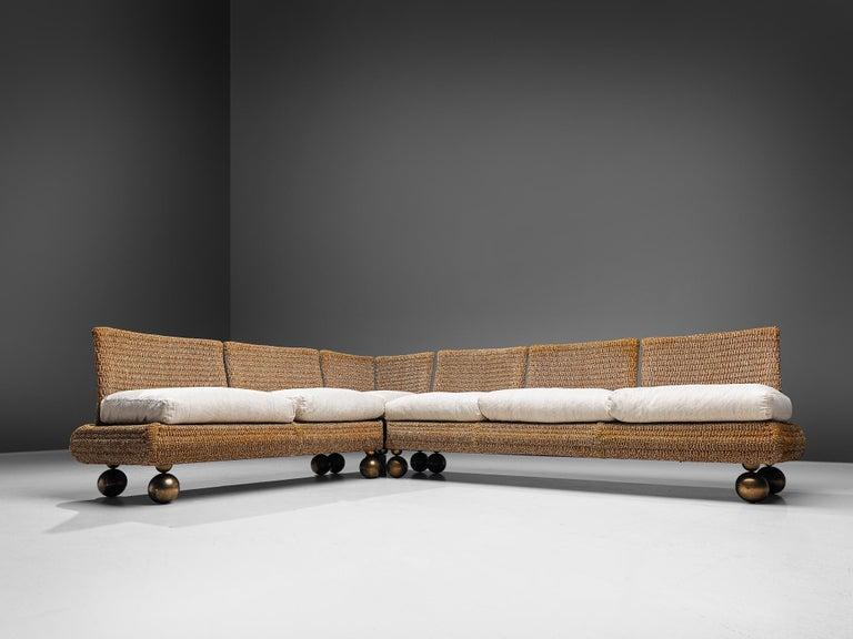 Italian Marzio Cecchi Sectional Sofa For Sale