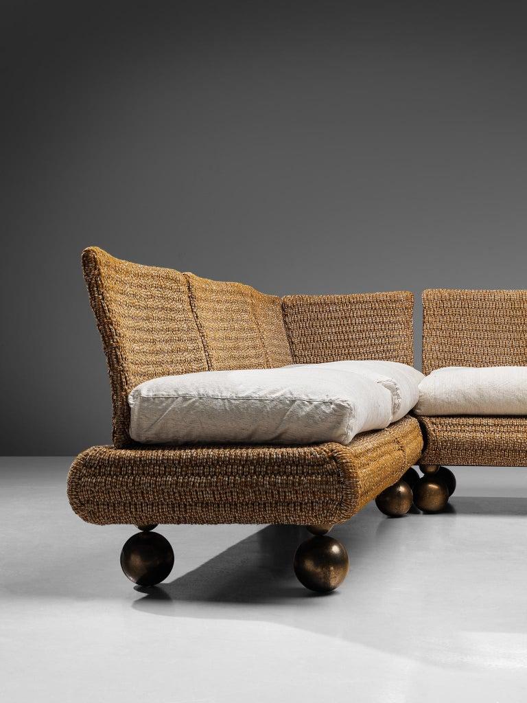 Bronze Marzio Cecchi Sectional Sofa For Sale