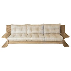 "Marzio Cecchi, Studio Most, ""Galles"" Three-Seat Sofa, Woven Cord, Italy, 1978"