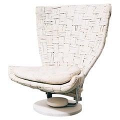 Marzio Cecchi Woven Leather Highback Chair