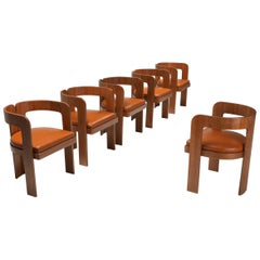 Marzio Cecchi Dining Chairs, Set of Six