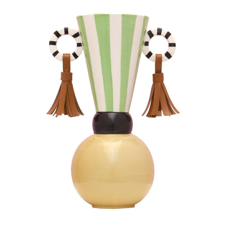 Masai Earrings Vase For Sale