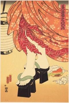 """Masami Teraoka """"McDonald's Hamburgers Invading Japan"""" Limited Signed Print"""