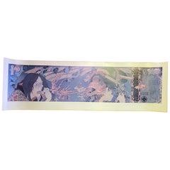 Masami Teraoka Signed Los Angeles Sushi Ghost Tales Fish Woman Exhibition Poster