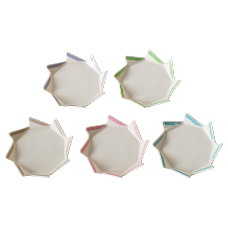 Masanori Umeda Five Color Plates Postmodern For Sale