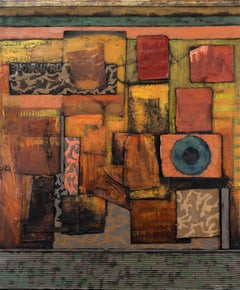 Blowhard - Abstract Painting, Colorful, Orange, Oil on Canvas, Contemporary