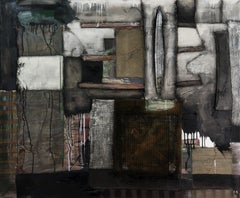 Next Generation 3 - Abstract Painting, Gray, Black, Oil Painting, 21st Century