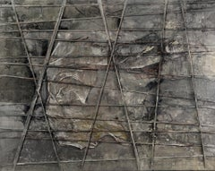 Plenty of Grey - Abstract Painting, 21st Century, Gray, Layered, Oil paint
