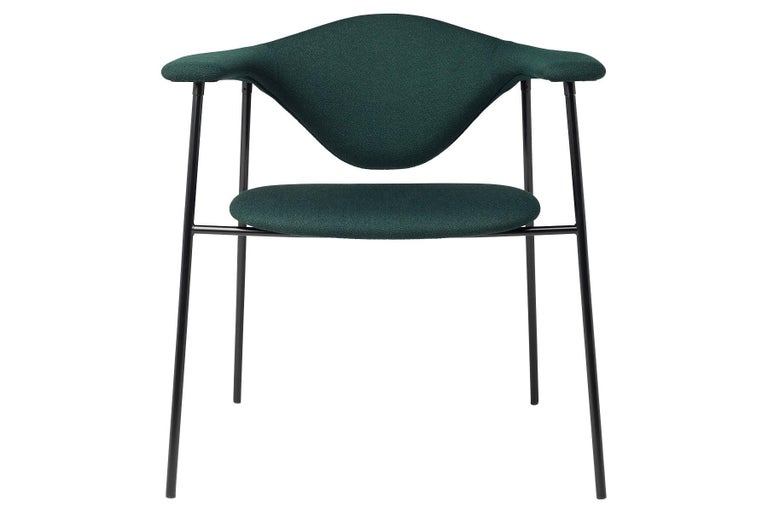 Mid-Century Modern Masculo Dining Chair, Fully Upholstered, 4 Leg For Sale