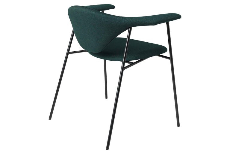 Danish Masculo Dining Chair, Fully Upholstered, 4 Leg For Sale