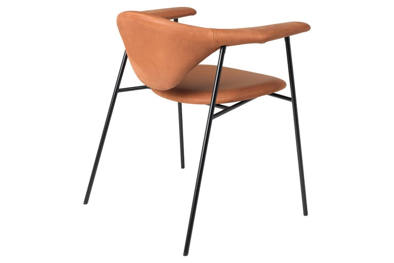 Masculo Dining Chair, Fully Upholstered, 4 Leg In New Condition For Sale In Berkeley, CA