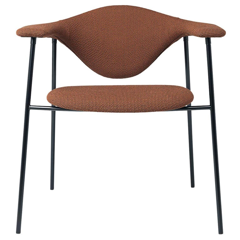 Masculo Dining Chair, Fully Upholstered, 4 Leg For Sale