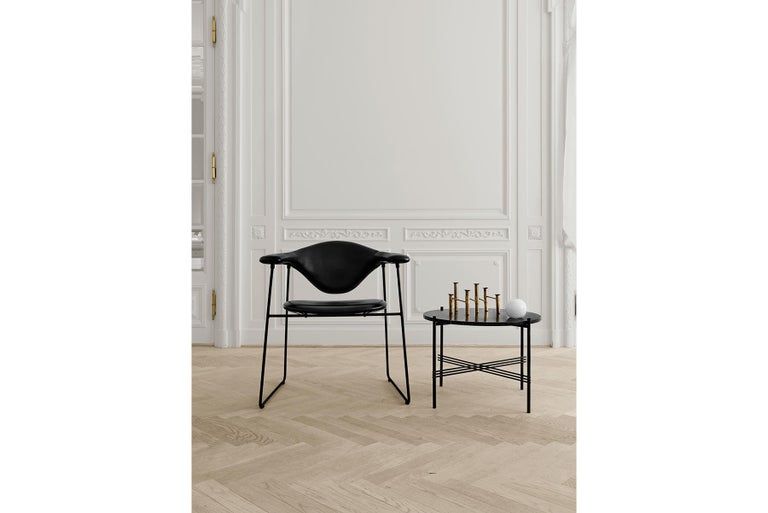 Masculo Dining Chair, Fully Upholstered, Sledge Base For Sale 8