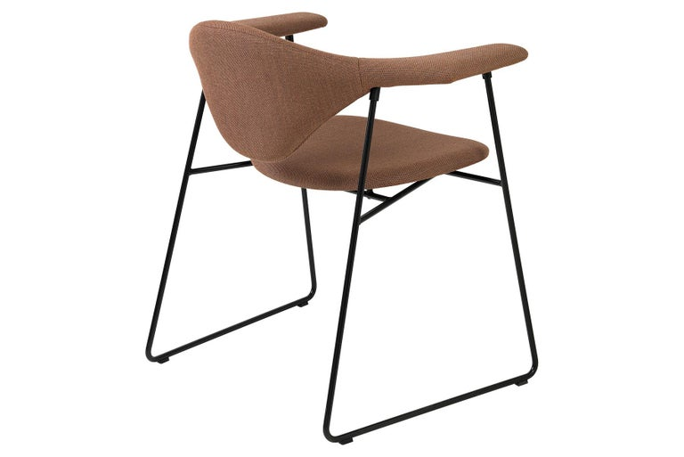 Masculo Dining Chair, Fully Upholstered, Sledge Base In New Condition For Sale In Berkeley, CA