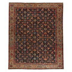 Masculine Large Antique Persian Mahal Sultanabad Rug, Early 20th Century