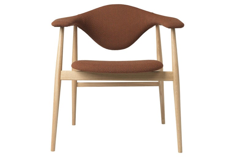 Danish Masculo Dining Chair, Fully Upholstered, Walnut Base For Sale