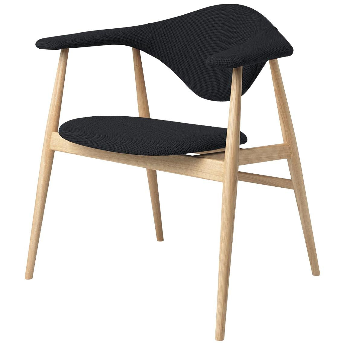 Masculo Dining Chair, Fully Upholstered, Walnut Base
