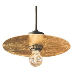 Ma'shar Gilded Gold Pendant Light With Black Cord