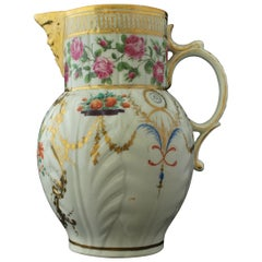 Mask Jug, Finely Decorated and Gilt, Caughley/Chamberlain, circa 1790