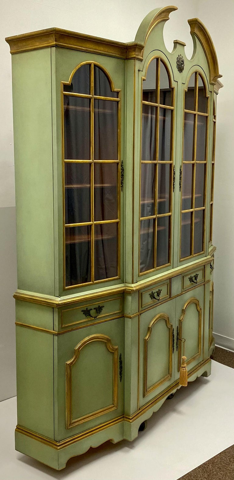 Maslow Freen of New York Chippendale Style Painted Cabinet 1