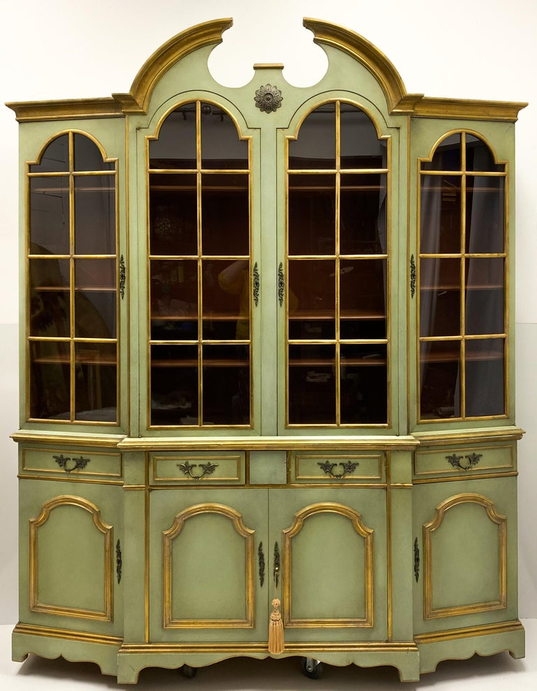 Maslow Freen of New York Chippendale Style Painted Cabinet 3