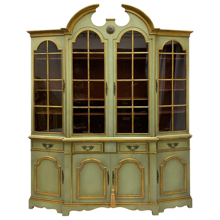 Maslow Freen of New York Chippendale Style Painted Cabinet