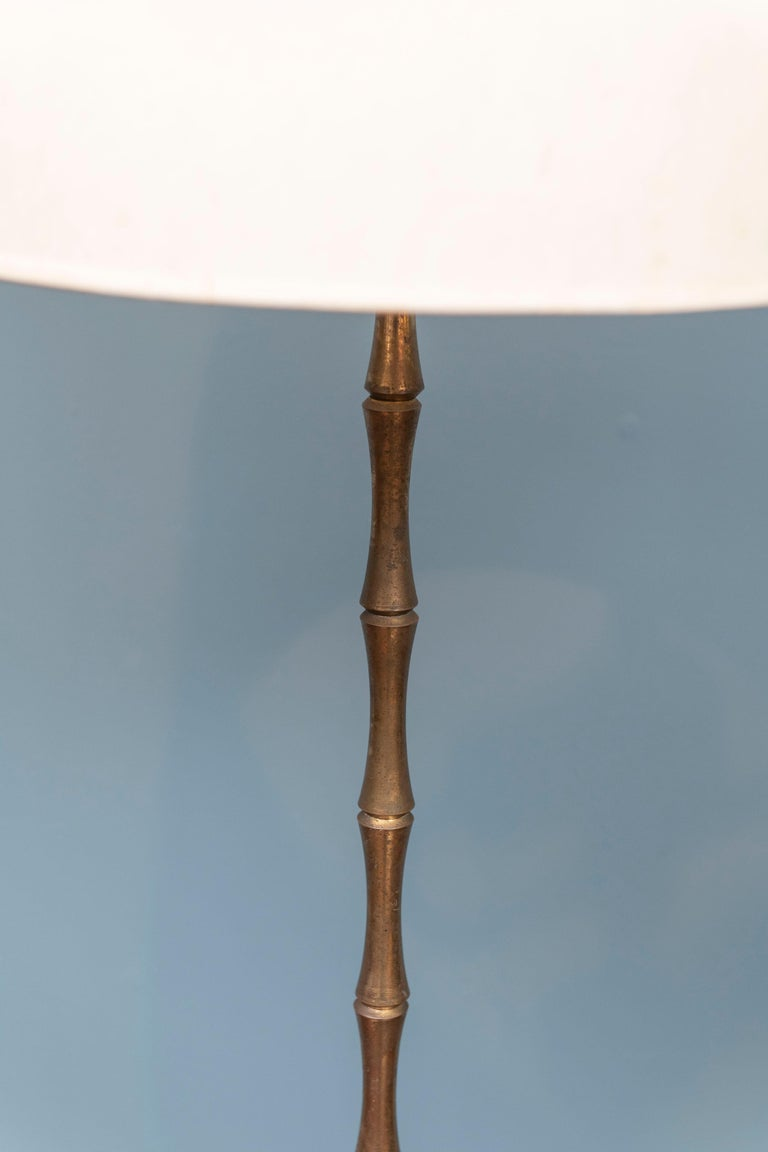 Maison Baguès Bamboo Floor Lamp In Good Condition For Sale In San Francisco, CA