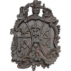 Masonic Armorial Coat of Arms, circa 18th Century