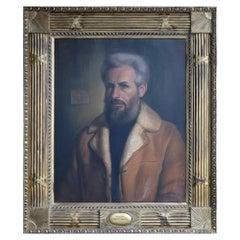 Masonic Sheepskin Man Portrait