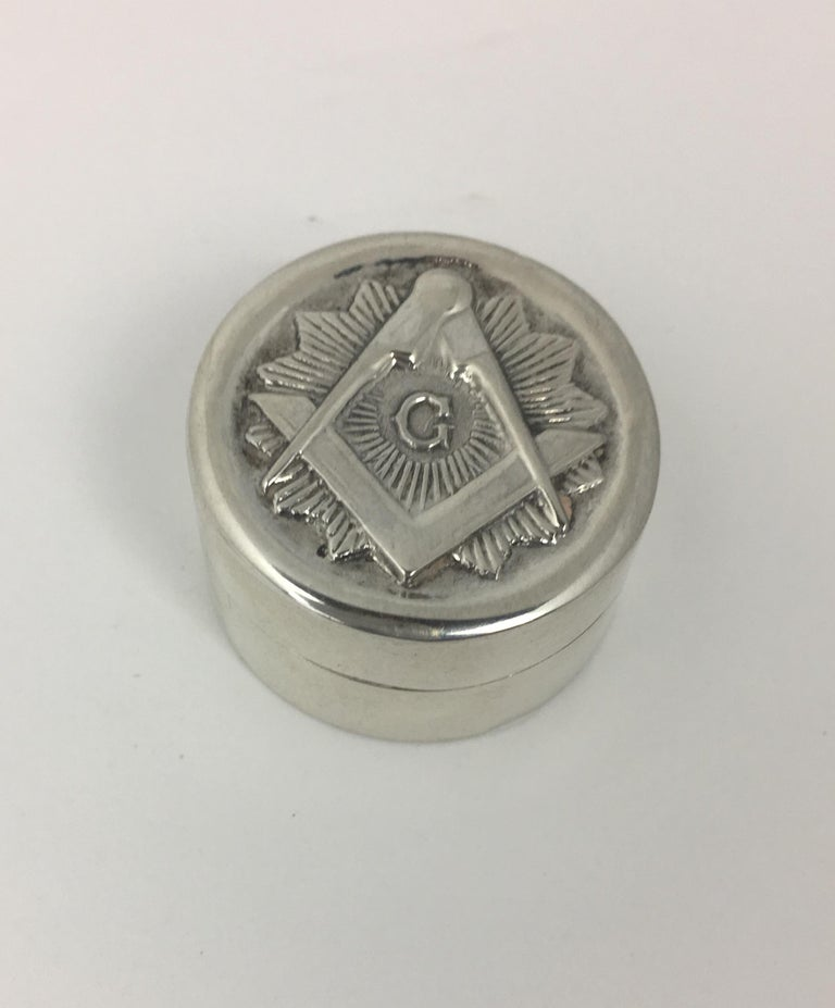Masonic Silver Keepsake Holders Set of 3 In Good Condition For Sale In Arles, FR