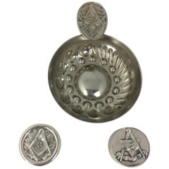 Masonic Silver Keepsake Holders Set of 3