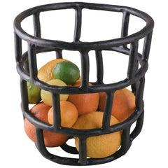 Masonry Barrel, Large Ceramic Basket