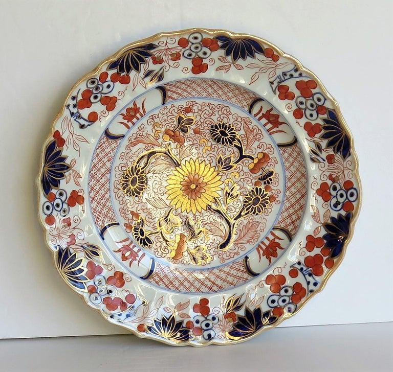 Mason's Ironstone Desert Dish or Plate Rare Gold Chrysanthemum Ptn, circa 1818 3