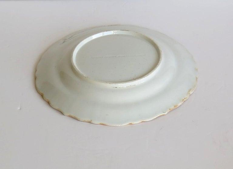 Mason's Ironstone Desert Dish or Plate Rare Gold Chrysanthemum Ptn, circa 1818 10