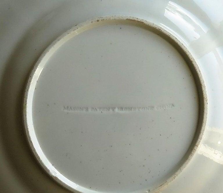 Mason's Ironstone Desert Dish or Plate Rare Gold Chrysanthemum Ptn, circa 1818 12