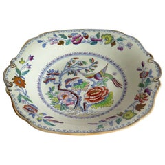 Mason's Ironstone Desert Plate or Dish in Flying Bird Pattern, circa 1880