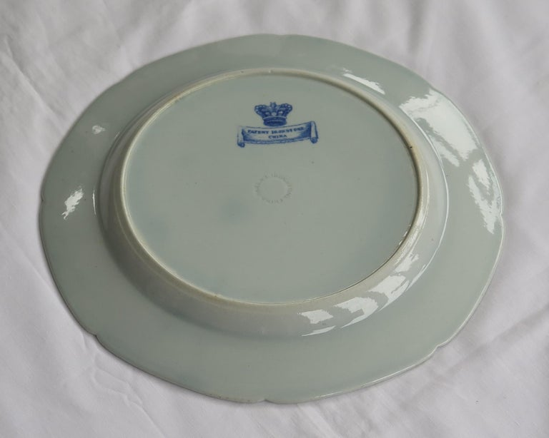 Masons Ironstone Dinner Plate in Blue India Pheasants Pattern, circa 1815 For Sale 2