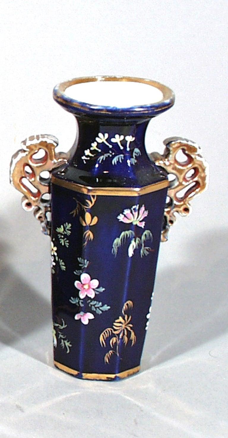 William IV Mason's Ironstone Garniture of Three Vases, circa 1835 For Sale