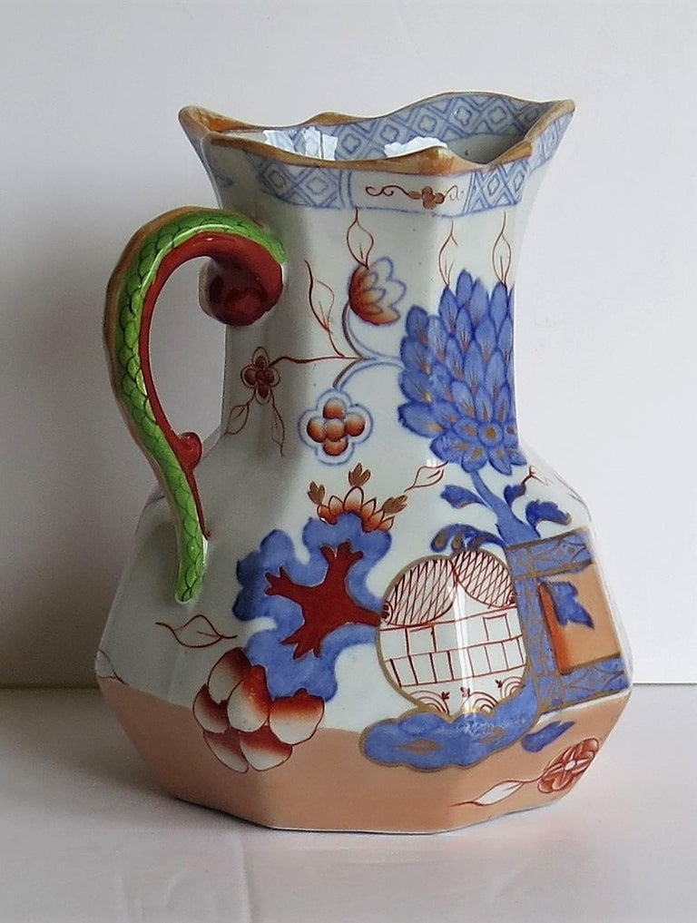 Mason's Ironstone Hydra Jug or Pitcher in the Jardinière Pattern, circa 1870 In Good Condition In Lincoln, Lincolnshire
