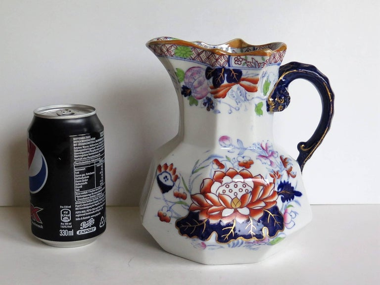 Mason's Ironstone Hydra Jug or Pitcher Water Lily Pattern, circa 1880 For Sale 7