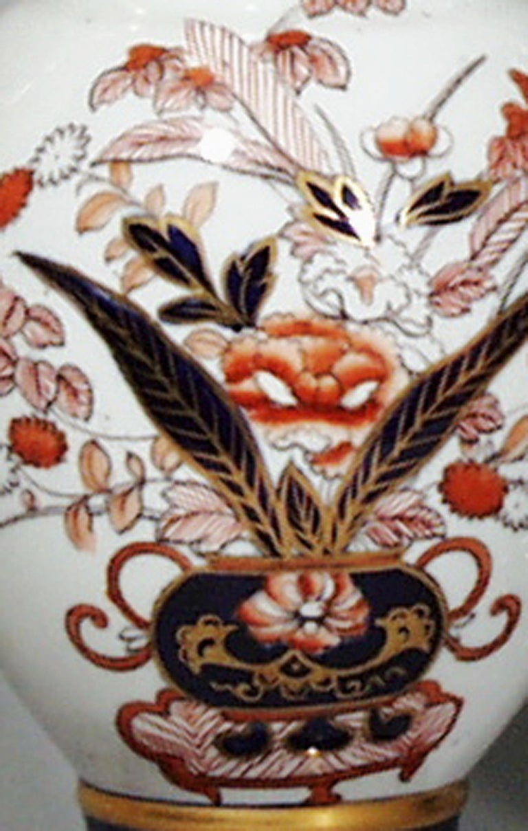 William IV Mason's Ironstone Japan Pattern Vases, a Pair For Sale