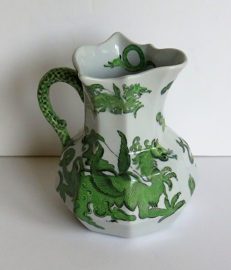 Mason's Ironstone Jug or Pitcher in Green Chinese Dragon Pattern, 19th Century In Good Condition For Sale In Lincoln, Lincolnshire