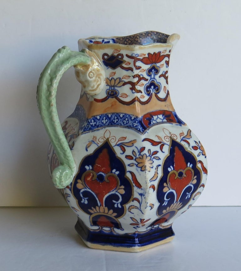 Mason's Ironstone Jug or Pitcher in Rare Shape and Pattern 306, circa 1830 In Good Condition For Sale In Lincoln, Lincolnshire