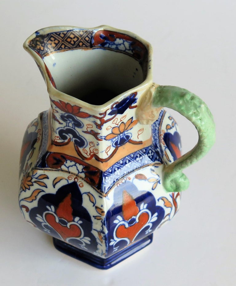Mason's Ironstone Jug or Pitcher Rare Shape and Pattern 306, circa 1830 For Sale 7
