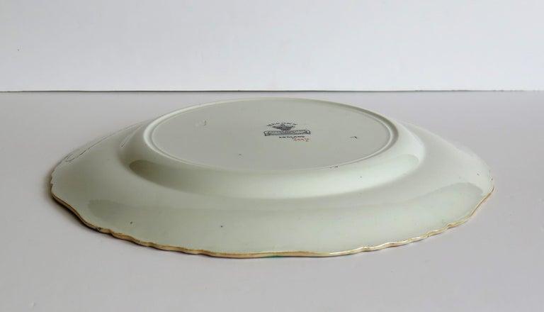 Mason's Ironstone Large Dinner Plate in Bandana Pattern, circa 1900 For Sale 9