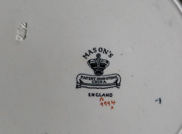 Mason's Ironstone Large Dinner Plate in Bandana Pattern, circa 1900 For Sale 10