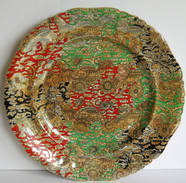 Mason's Ironstone Large Dinner Plate in Bandana Pattern, circa 1900 In Good Condition For Sale In Lincoln, Lincolnshire