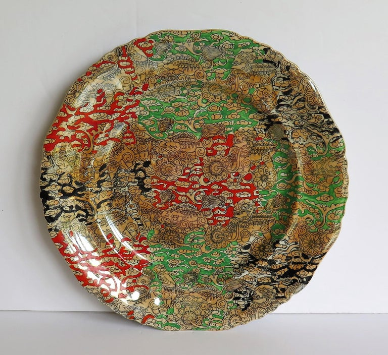 19th Century Mason's Ironstone Large Dinner Plate in Bandana Pattern, circa 1900 For Sale